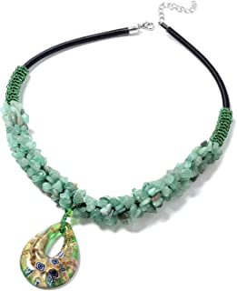 Shop LC Delivering Joy Murano Millefiori Glass Bead Strand Necklace Silvertone Costume Jewelry for Women Size 20