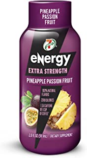 7-Select Extra Strength Energy Shot, Pineapple Passion Fruit, 2-Ounce Bottles (Pack of 12)