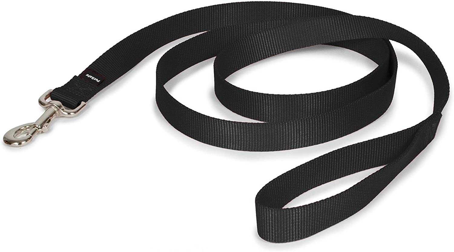 """PetSafe Nylon Dog Leash - Strong, Durable, Traditional Style Leash with Easy to Use Bolt Snap - 1"""" x 6', Black : Pet Leashes : Pet Supplies"""