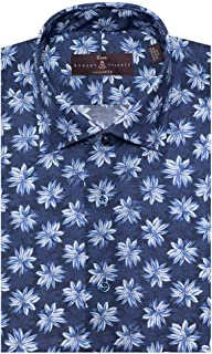 Robert Talbott Men's Pacific Zephyr Print Estate Tailored FIT Spread Collar Dress Shirt Size 17.5