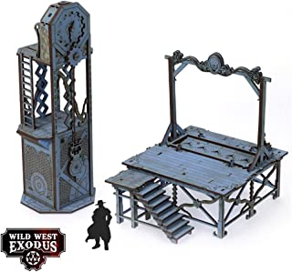 Wild West Exodus - Terrain 28mm Red Oak - Gallows & Clock SW