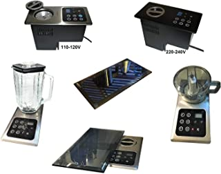 Built-in Blender:1000 Watt Motor Hidden Below Counter Top; Multi-Function, Universal: + Mini-Chopper + Protective Blk Glass Cover-(re: NuTone Food Center 251); Drawer Install Option; Huge Space Save