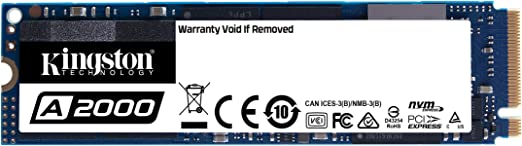 TALLA 1 TB. Kingston A2000 (SA2000M8/1000G) SSD NVMe PCIe M.2 2280 1 TB