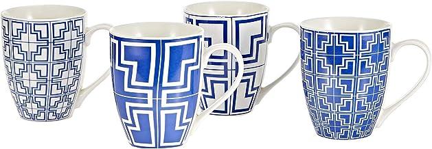 Symphony 300 ml Elegant Greco Mug Set - 4 Pieces (white)