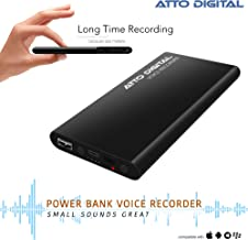 Voice Activated Recorder – Great Battery Life | 14 Days Continuous Record | 5000mAh - Power Bank Phone Charger Function - 8 GB Capacity | poweREC by aTTo Digital