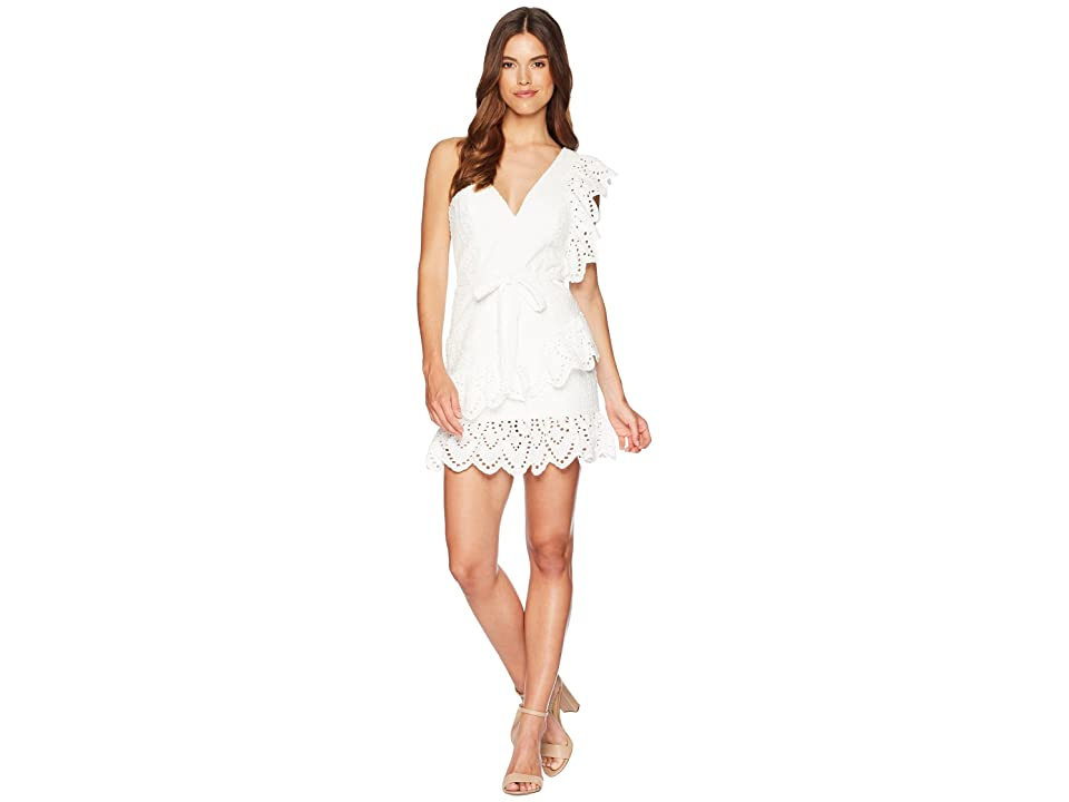 Bardot Frill Shoulder Dress (White) Women