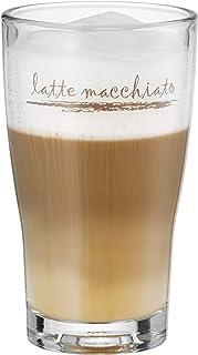 WMF Barista Latte Macchiato Glas 264 ml, Latte Glas mit Schriftzug , Ersatzglas, spülmaschinengeeignet