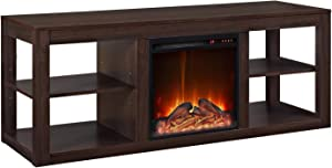 """Ameriwood Home Parsons Console Fireplace for TVs up to 65"""", Espresso"""
