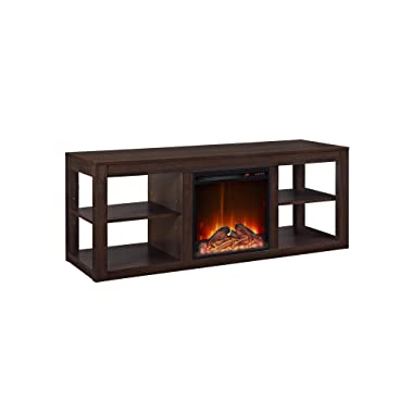 Ameriwood Home Parsons Console Fireplace for TVs up to 65 , Espresso