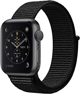 Bincoch Compatible for Apple Watch Band 42mm 44mm,with easy-to-adjust Hook and Loop Fastener,Soft Breathable Woven Nylon Replacement Band for iWatch Series 4/iWatch Series 5.