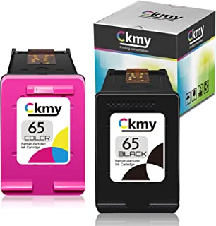 CKMY Remanufactured 65 Ink Cartridge Replacement for HP 65 Combo Pack for HP Envy 5052 5055 5012 5010 5020 5030 DeskJet 26...