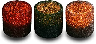 3 Pack Tealight Candle Holders Decorative Colorful Glass Cullet Tea Lights Votive Holders for Home Décor Wedding Halloween...