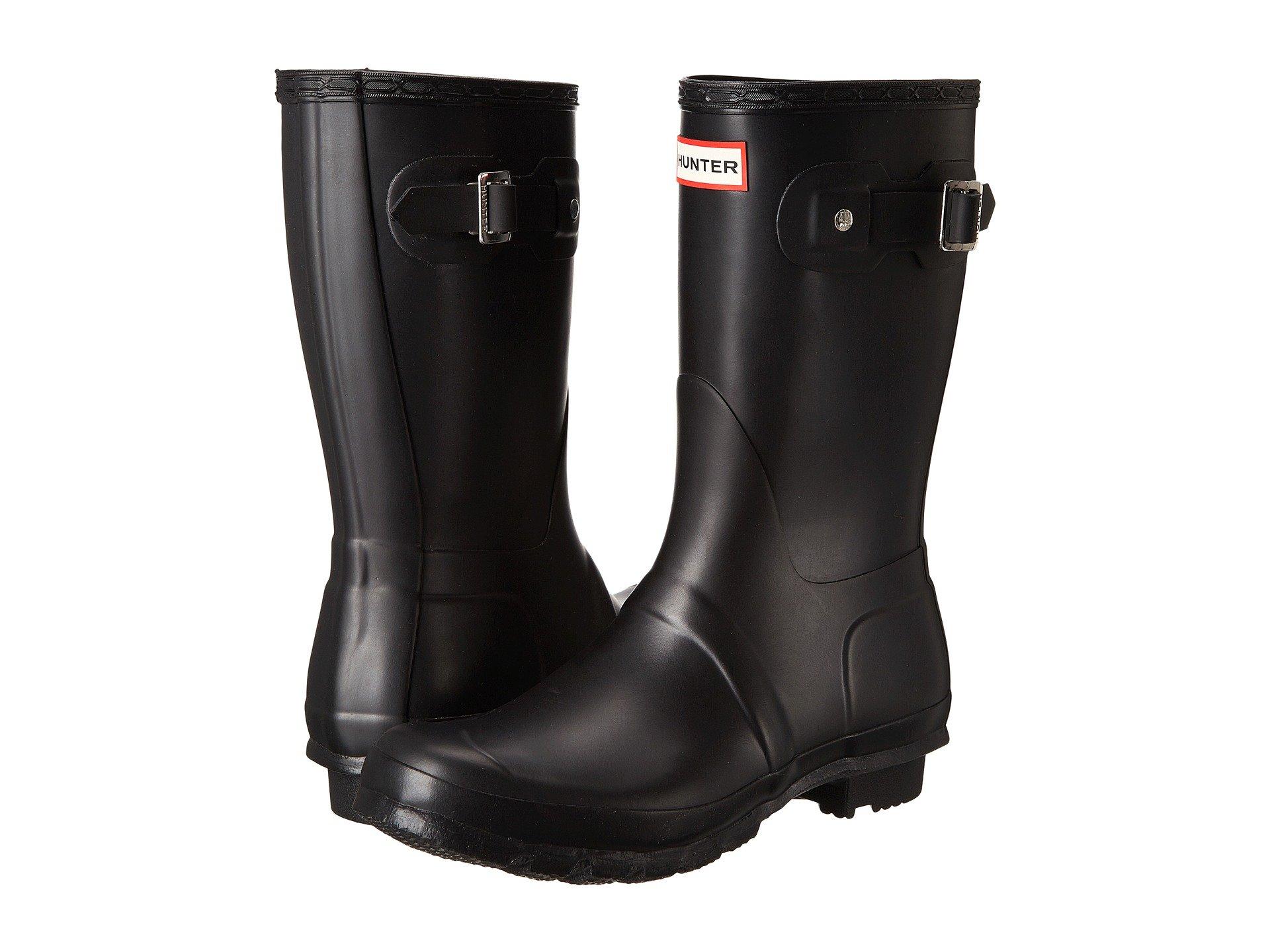 a755a39efa8861 Black Matte. 3191. Hunter. Original Short Rain Boots
