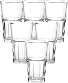 Ocean P01963 Centra Long Drink Glass, Clear, 495 ml, (Pack of 6)