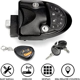 SAFETYON RV Keyless Entry System Car Alarms Remote Control Central Kit Door Lock Latch Handle Knob Deadbolt Camper Trailer (Upgrade)