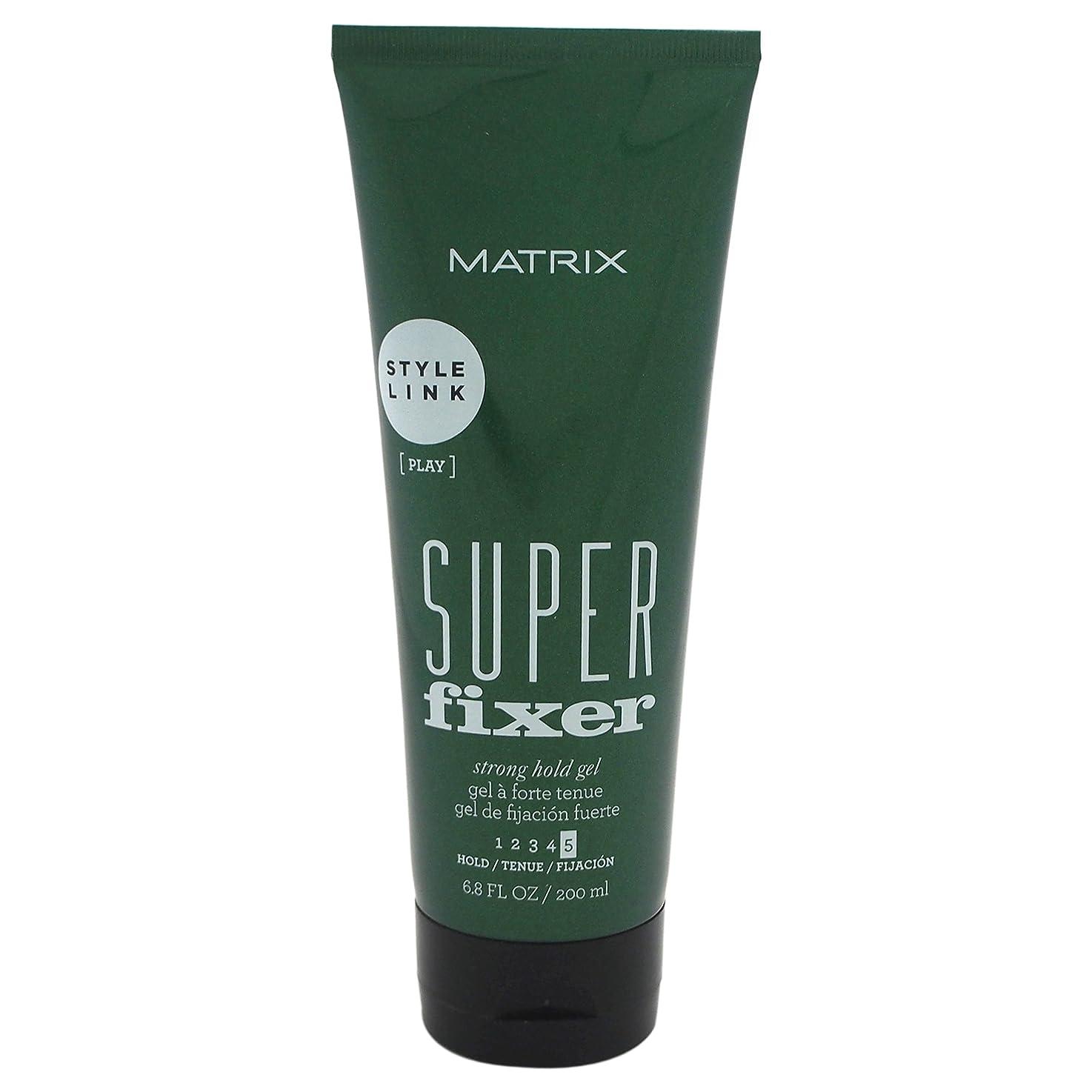 役割素朴なセンチメンタルマトリックス スタイルリンク スーパー フィキサー ジェル Matrix Style Link Super Fixer Strong Hold Gel (Hold 5) 200 ml / 6.8 oz [並行輸入品]