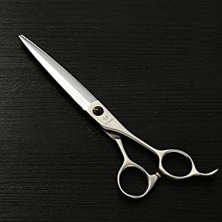 7.0 High-end Hairdressing Scissors, 440C Stainless Steel Haircut Flat Shears (Color : Silver)