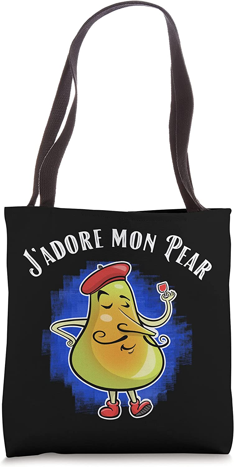 Funny J'Adore Mon Max 88% OFF Pear Graphic For Day Regular discount Tote On Pun Fathers Papa