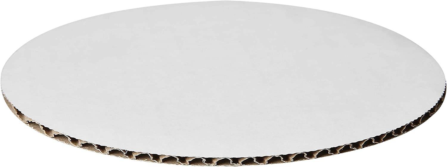 W PACKAGING WPDWC18 18  White Kraft Double Wall Cake Circle, Non Grease Proof, Corrugated Paper Board (Pack of 50)