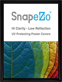 SnapeZo Poster Frame 12x16 Inches, Black 1.2 Inch Aluminum Profile, Front-Loading Snap Frame, Wall Mounting, Premium Series