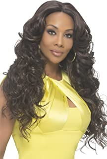 Vivica A Fox Hair Collection Sunflower Natural Baby Swiss Lace Front Wig Invisible New Futura Fiber Lace Part, Fs1b/30, 14...