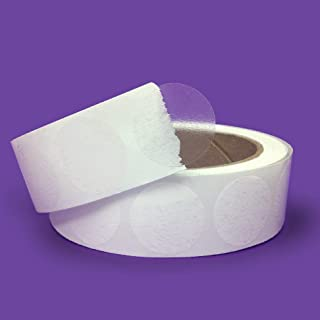 """Super Gloss Clear Retail Package/Envelope Seals 1"""" Inch Round Circle Wafer Seal Labels 1,000 Per Roll"""