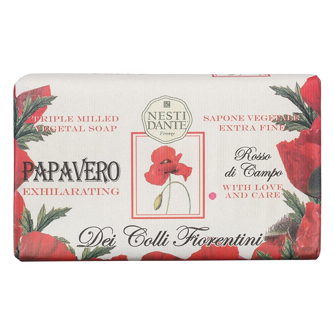 拍手するプラスチックペンフレンドNesti Dante ネスティダンテ フィオレンティーニソープ ポピー 250g