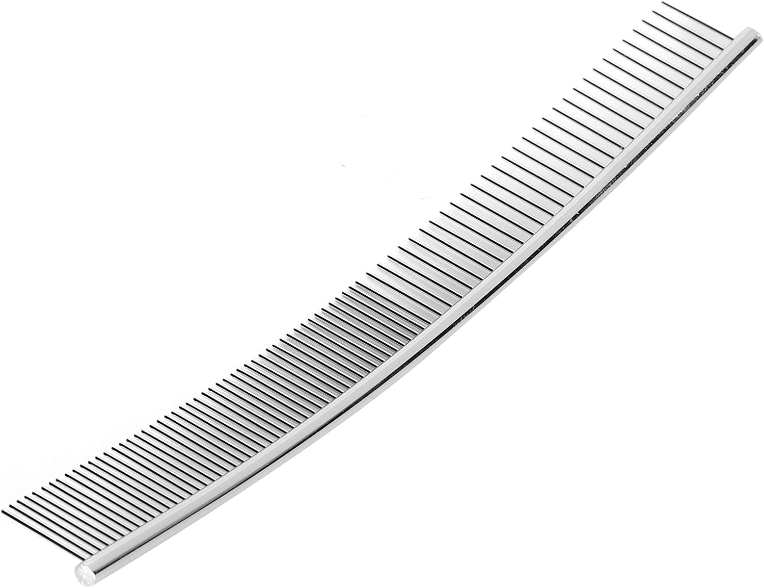 Half thin and half dense, curved comb Pet Grooming Opening Knot Comb Stainless Steel Rust‑Resistent Steady for Pets Dogs Knot Comb AMONIDA Dogs Curved Comb