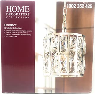 Home Decorator Collection Pendant Chandelier Chrome Finish Kristella Collection Crystal Glass Accents