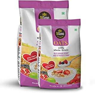 DiSano Oats with High in Protein and Fibre Pouch, 1.5 kg combo pack (1kg +500gm)