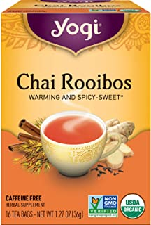 Yogi Tea - Chai Rooibos (6 Pack) - Warming and Spicy Sweet - 96 Tea Bags