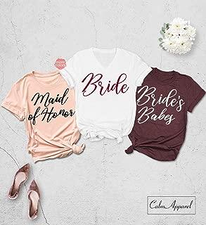 Bachelorette Party Shirt, Bridesmaid Shirts, Wedding Proposal Shirts, Bride Squad Tank Tops, Bridal Party T Shirt