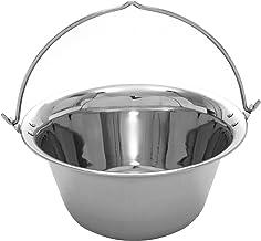 Grillplanet 1166 Gulaschkessel 15 Liter Edelstahl dickwandig 1 mm, Silber
