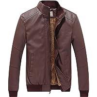 WenVen Men's Winter Fashion Faux Leather Jacket (Multiple Colors)