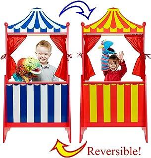 Théâtre de marionnettes sur Pied réversible , Multicolore