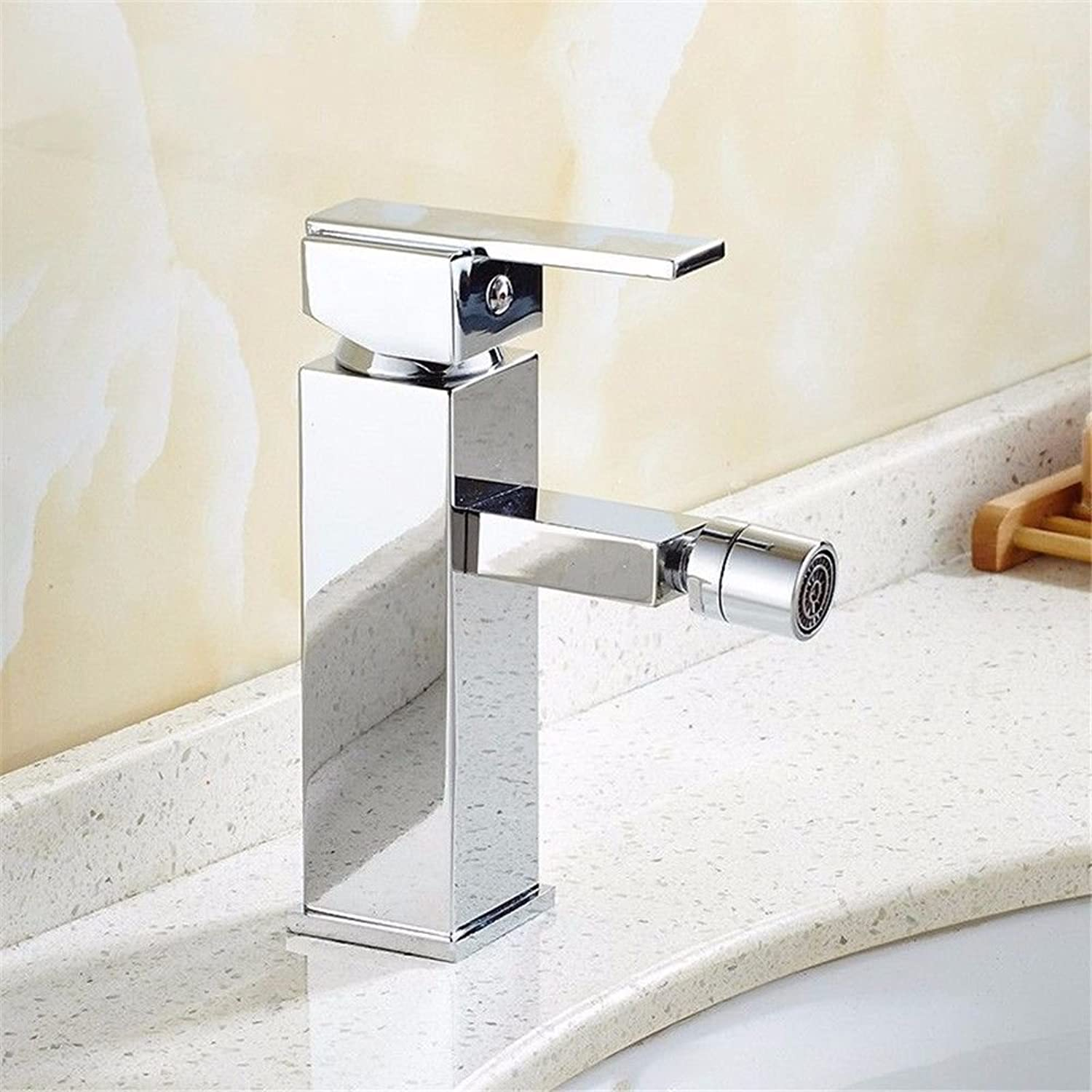 NewBorn Faucet Water Taps Hot And Cold Water Chrome Plated Silver Wash Bathroom Maternal Wash, Single Hole Water Tap