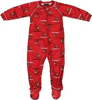 Two Feet Ahead NCAA Louisville Cardinals Infant Polka Dot Footed Creeper Dress Red Preemie
