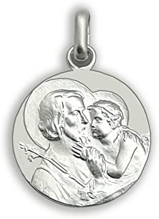 Medalla San José - Medalla de plata de San José- Patrón de los trabajadores