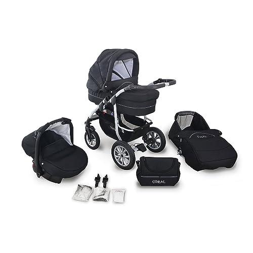 Schwenkräder TOMAS Kinderwagen 3in1 Babyschale Megaset Viel Zubehör