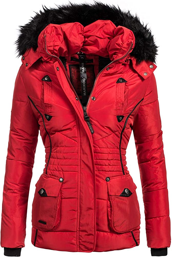 Marikoo,giacca trapuntata invernale da donna,con cappuccio Vanilla-49