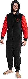 Liverpool F.C. Pijama Hombre de Una Pieza, Pijama Hombre Invierno Entero con Capucha, Pijama Mono Forro Polar, Regalos para Hombres y Adolescentes Talla M-3XL