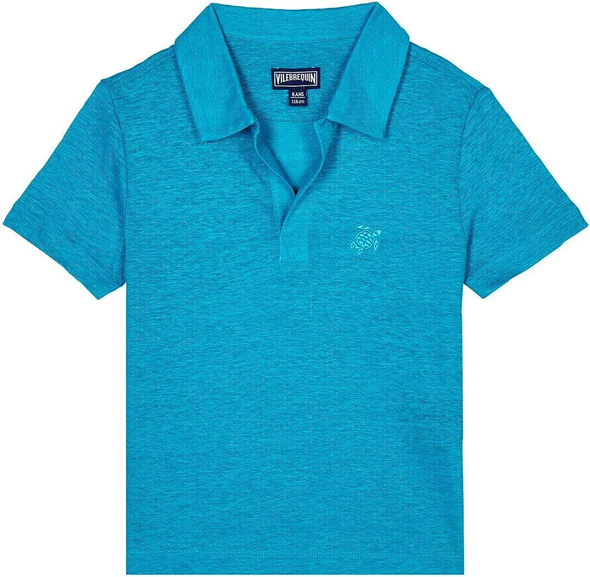 Vilebrequin, Linen Boys Polo Shirt Solid