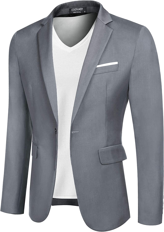Bargain sale Soldering COOFANDY Men Casual Sport Coat Slim One Button Blazers Busin Fit