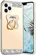 Robinsoni Hoesje compatibel met iPhone 11 Pro Phone Cover Flexibel Case Sparkle Siliconen Case Clear Case Diamond Bling Ca...