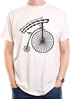 Old Skool Hooligans The Prisoner T Shirt Penny Farthing Whose Side are You on?