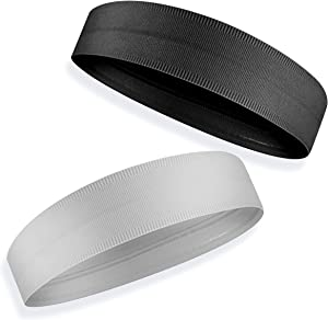 POHOO Men/Women Outdoor Sports/Indoor Exercise Headband. Athletic Performance Stretch Moisture Wicking Sweatband/Hairband for Running, Jogging, Cycling, Basketball, Football, Tennis, Gym and Yoga.