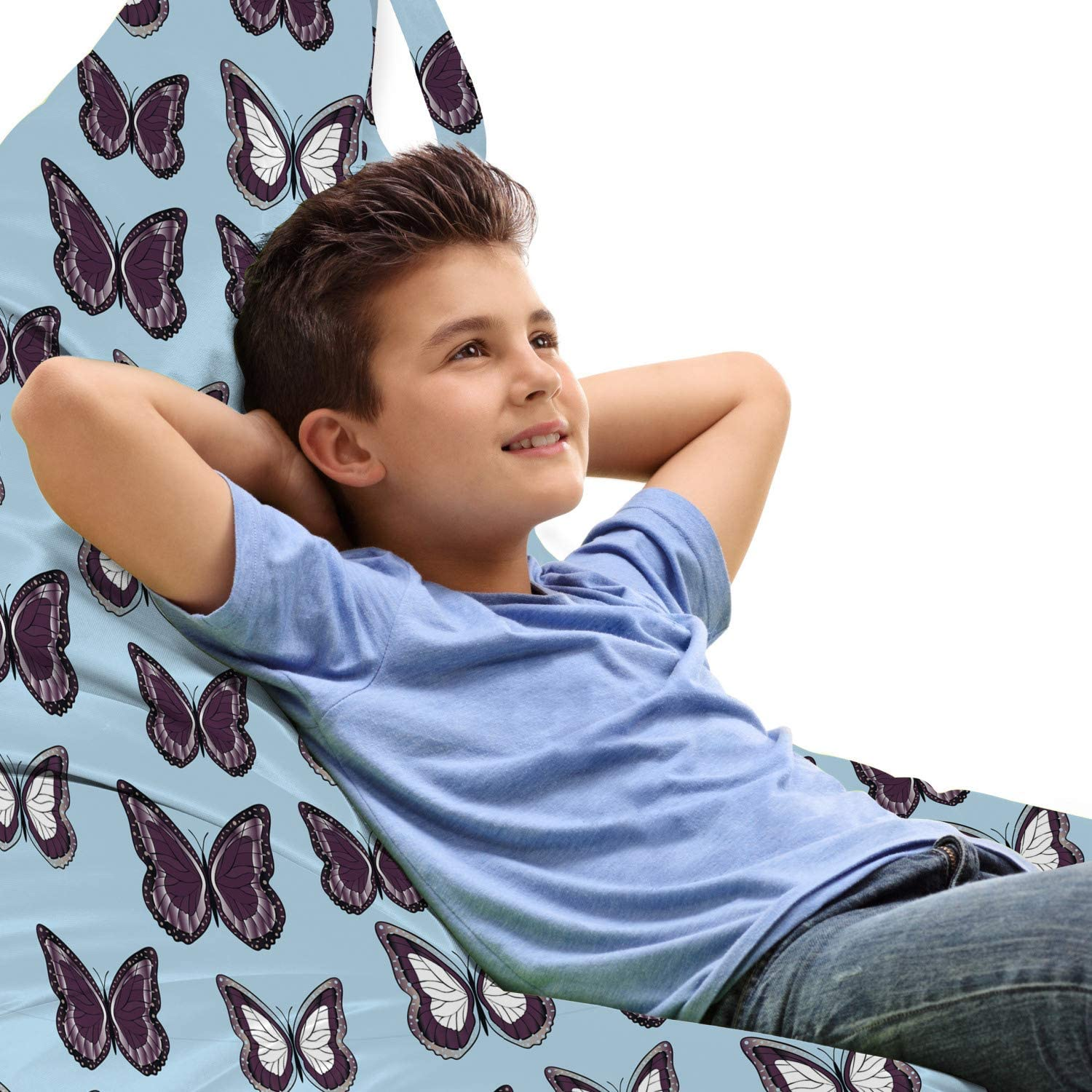 Ambesonne Ranking TOP12 Moth Lounger Chair Bag O Butterflies Award Pattern Colorful