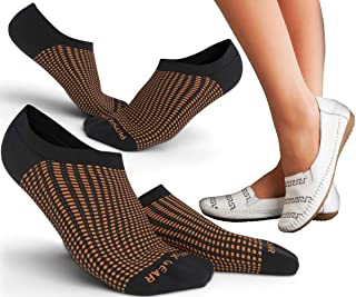 Premium No Show Socks with No Slip Liner Grip for Men & Women - Anti Bacterial Sweat & Odor Resistant - Perfect for Sneakers Flats Boat Shoes Loafers & Casual - Best Invisible Low Cut