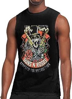 Deborah E Freeman Guns N' Roses T Shirts Men's Sleeveless Round Neck Tops Tank Top Muscle Tees