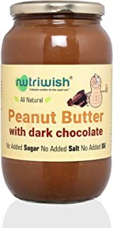Nutriwish Peanut Butter with Dark Chocolate Bottle, 1000 g